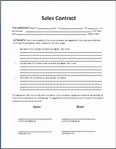 free printable sale contract form generic With house sales contract template
