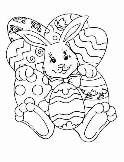 Coloring Easter Pages Bunny Printable Colouring Sheets