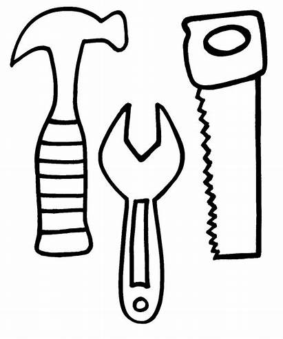 Construction Coloring Pages Tools Tool Printable Clipart