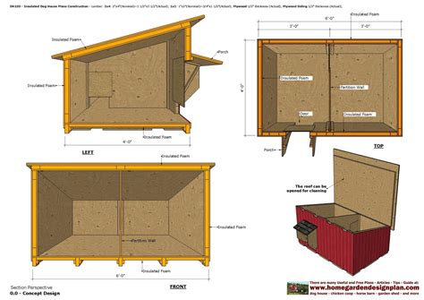 home garden plans dh insulated dog house plans dog