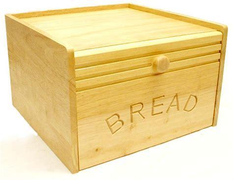 """Large 12"""" Wooden Bread Bin with Magnetic Drop Door"""