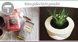 Zement Zum Basteln : beton gie en anleitung und tipps f r diy artikel wohncore ~ Lizthompson.info Haus und Dekorationen