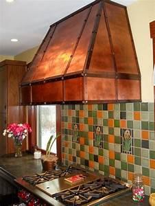 New Handcrafted Custom Copper Range Vent Stove Hood Usa