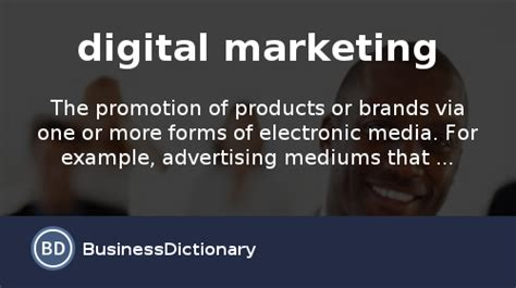Digital Marketing Definition by What Is Digital Marketing Definition And Meaning