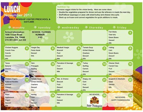 daycare lunch menu preschool lunch menu lansdale day 996 | eb0e3dc082d66557b516221aa1000499 daycare meals kid meals