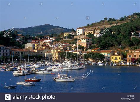 Porto Azzurro Elba by View To Porto Azzurro Elba Island Toscana Italy Stock