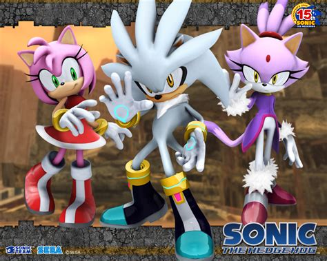 Silver the Hedgehog 06 Sonic and Amy