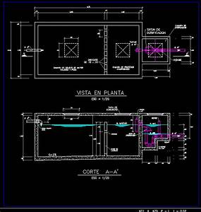 Septic Tank With Dosing Siphon In Autocad