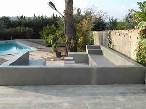 mobilier exterieur septembre 2012 betons cires With beton cire pour escalier exterieur