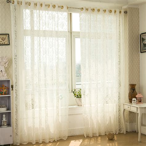 modern luxury white tulle curtains for living room with