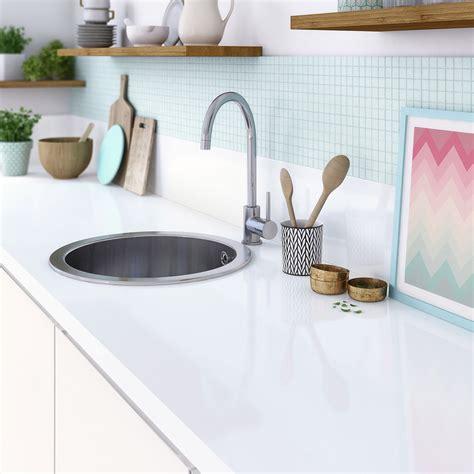 leroy merlin plan de travail cuisine plan de travail stratifié blanc brillant l 315 x p 65 cm