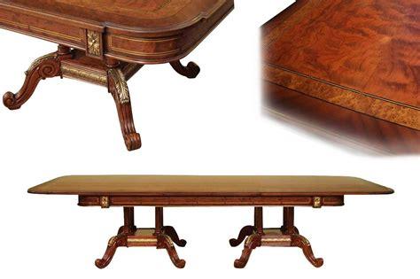 mahogany  walnut dining room table   storing leaves