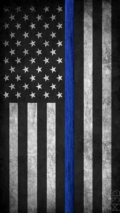 Flag Line Thin American Wallpapers Police Phone