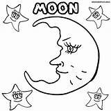 Moon Coloring Pages Half sketch template