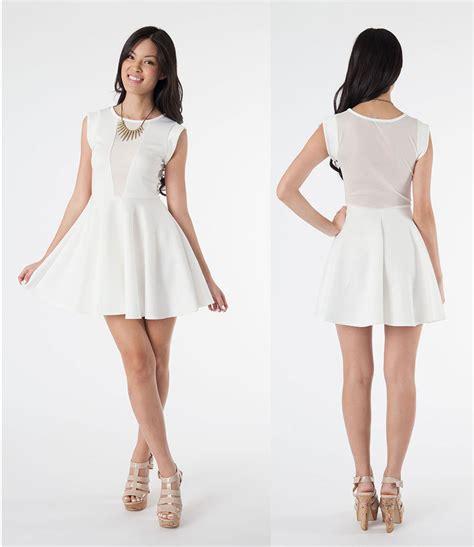 light blue 15 dresses nwt white mesh front cut out sheer open back skater