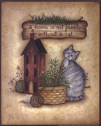 a purrfect home fine art print by mary ann june at
