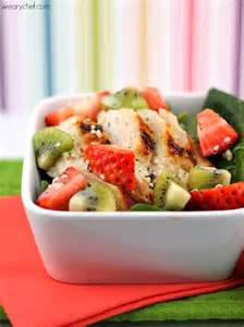 Strawberry Spinach Salad with Chicken