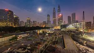 Time Lapse Of Sunrise Over Kuala Lumpur, Malaysia. Ultra ...