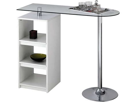 table bar de cuisine table de bar youen coloris blanc vente de table de