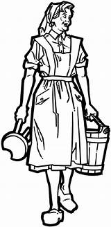 Milking Maid Maids Coloring Carrying Farming Decals Crops Agriculture Line Vinyl Sticker Farmer Stool Bucket Eight Signspecialist Beevault Customize Sketch sketch template