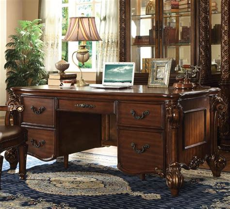 acme furniture nostalgia casual pedestal acme furniture vendome 92125 pedestal desk with 5