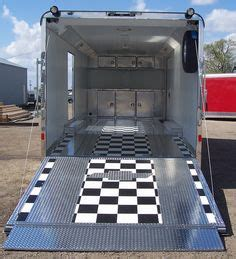 checkered vinyl flooring for trailers the trailer on trailers cargo trailer cer