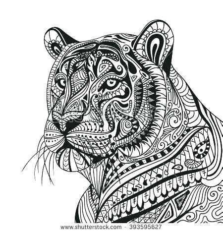 tiger mandala coloring pages  getcoloringscom  printable colorings pages  print  color