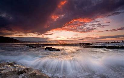 Sunset Costa Wallpapers Rivage Skyscapes Seas Onde