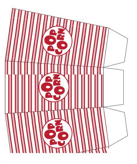 popcorn box templates  premium templates