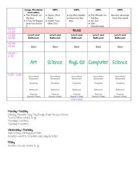 lesson plans    week  pre   adventures  kindergarten