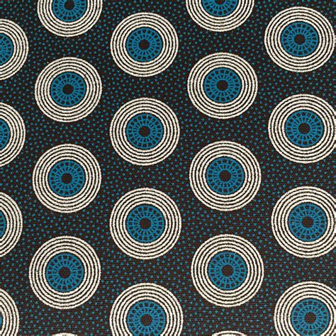 Brown And Turquoise Circles Shweshwe Fabric Urbanstax