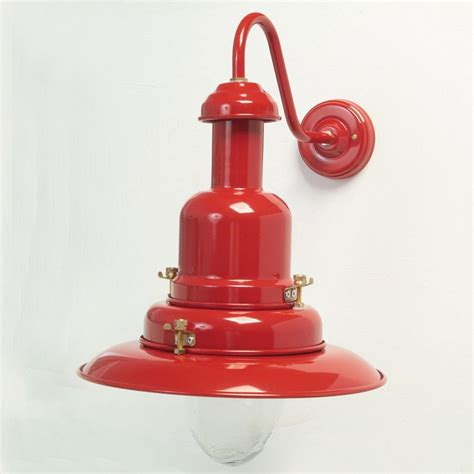small fishermans outdoor wall light red broughtons of