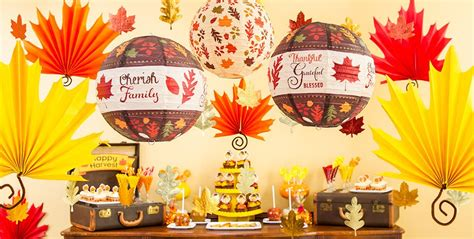 fall leaves decorations party city