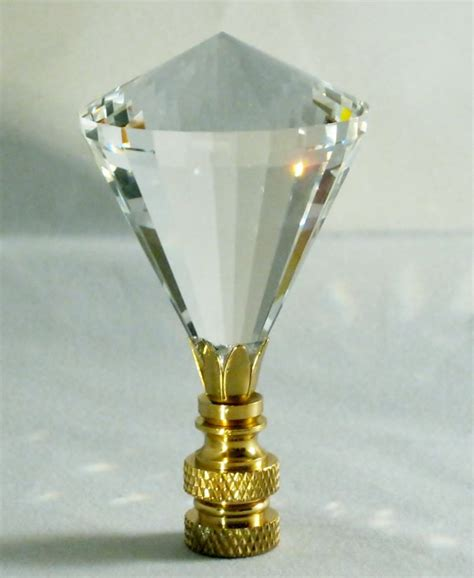 lamp finial stunning leaded crystal lamp finial clear