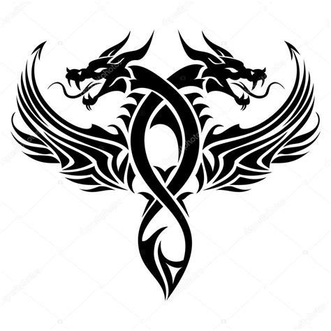 Tribal Dragon Tattoo €� Stock Vector © Surovtseva #121320582
