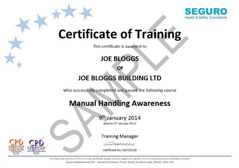 manual handling  training seguro hs management