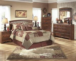timberline 4 pc bedroom dresser mirror chest queen With ashley furniture 5 pc bedroom sets