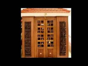 Latest Pooja Room Door Frame And Door Design - YouTube