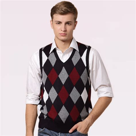 mens sweater vest get cheap mens argyle sweater vest aliexpress com