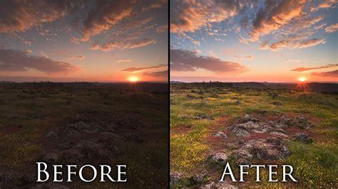 post processing landscape    minutes photoshop