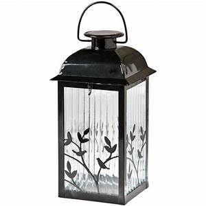 shop gemmy 53 in x 122 in black glass solar outdoor With outdoor lighting colored lanterns