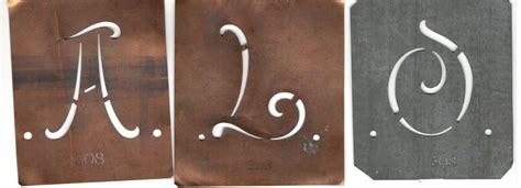 monogram stencil sheet johann merkenthaler