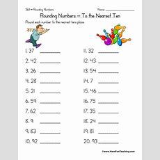 Rounding To The Nearest Ten Worksheet