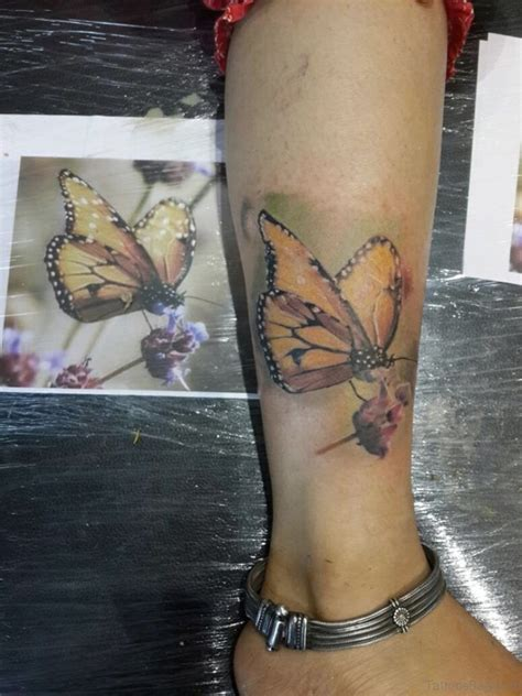 fabulous butterfly tattoos  ankle
