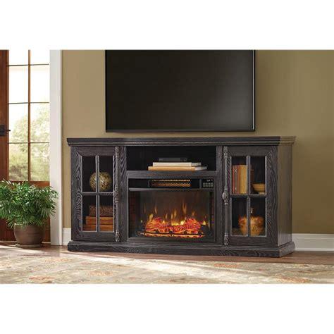 portable fireplace tv stand muskoka hudson 53 in freestanding electric fireplace tv