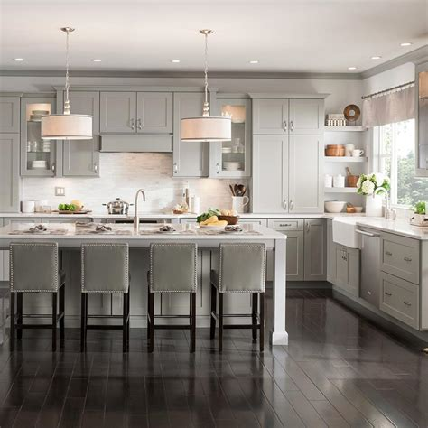 american woodmark custom kitchen cabinets shown