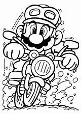 Mario Coloring Game Driving Pages Play Cartoon sketch template