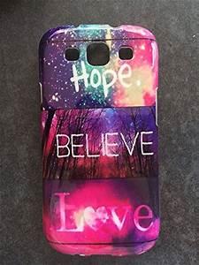 coverstop® COVER hope believe love galassia BIEBER FANTASY CUSTODIA BUMPER PER SAMSUNG GALAXY S3