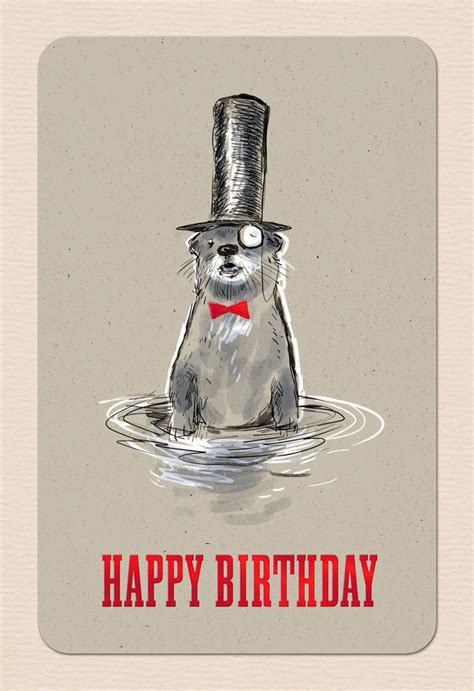 original otter birthday card greeting cards hallmark