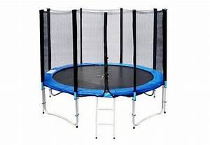 Blau Und Schwarz Kombinieren : joka fit trampolin 305 cm mit faltbaren sicherheitsnetz und leiter blau schwarz online ~ Buech-reservation.com Haus und Dekorationen